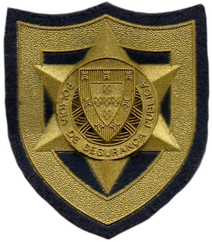 POLICÍA DE SEGURANÇA PÚBLICA DE PORTUGAL PARCHE DE PECHO DORADO INSIGNIA EMBLEMA