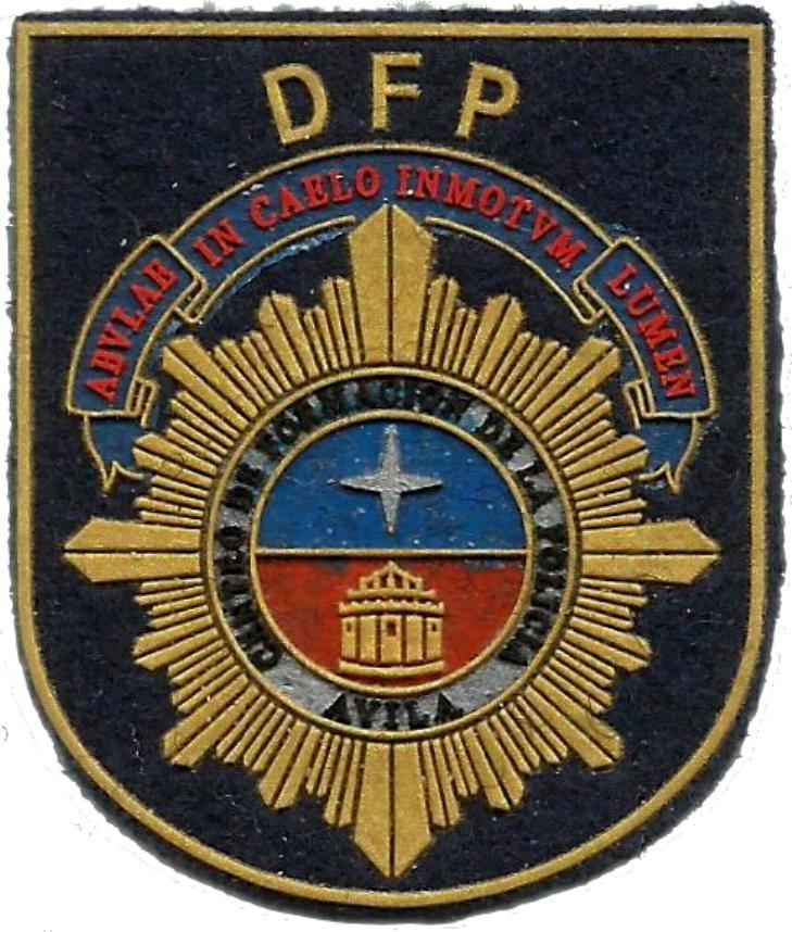 PARCHE PECHO DE LA POLICÍA NACIONAL CNP DIVISIÓN DE FORMACIÓN Y PERFECCIONAMIENTO DFP