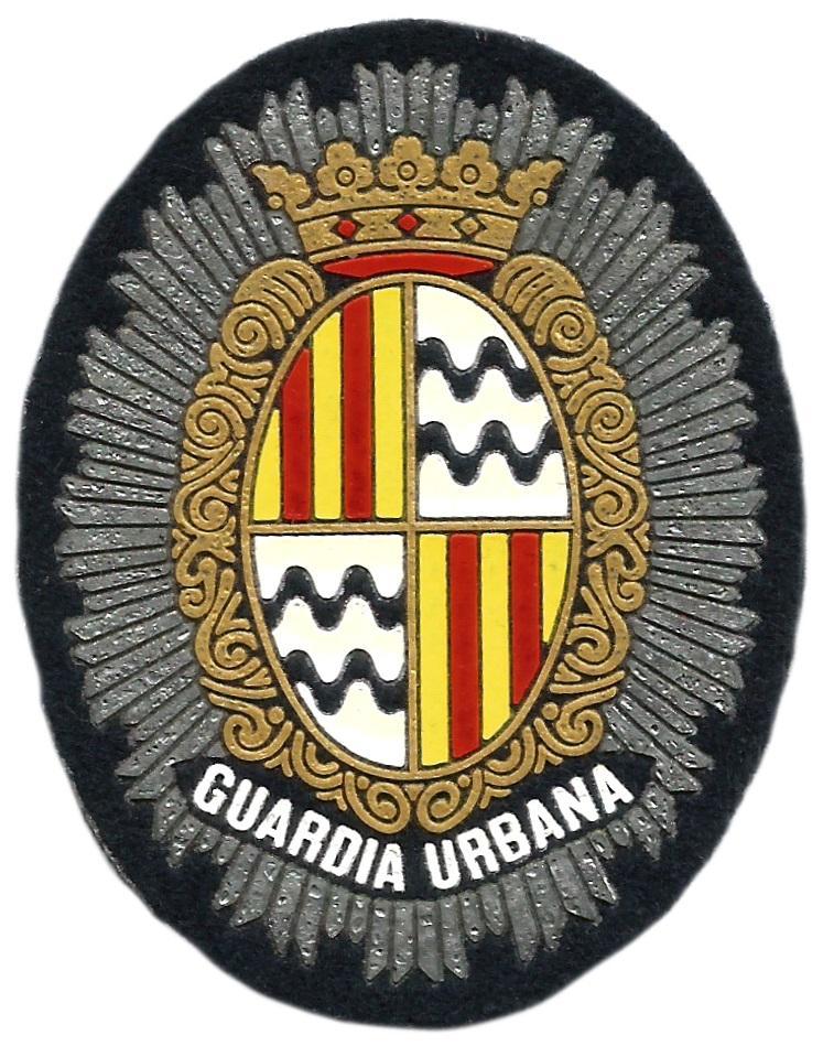Policía Guardia Urbana de Badalona parche insignia emblema distintivo de pecho
