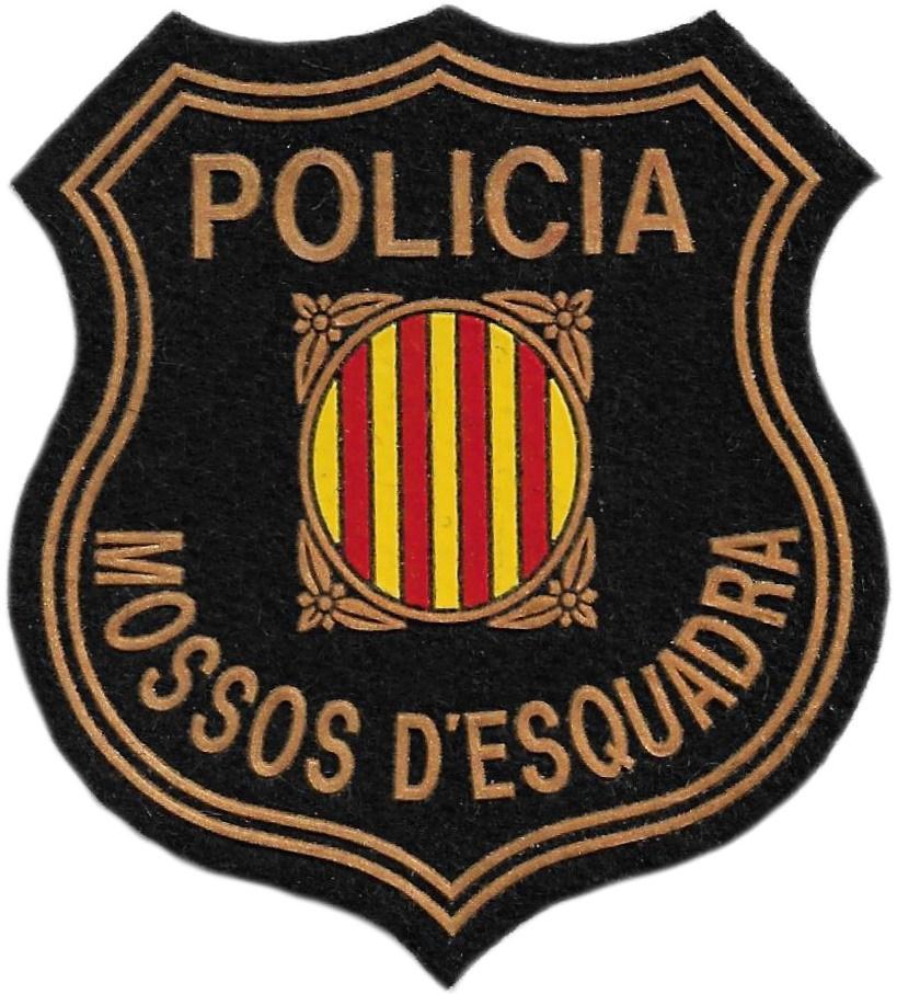 Policía de Cataluña Mossos d´esquadra parche insignia emblema distintivo de pecho
