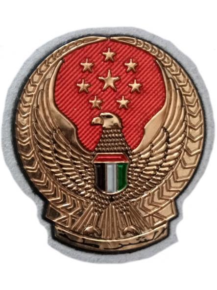 Policía Abu Dhabi ciudad capital de Emiratos Árabes Unidos parche insignia emblema distintivo [0]