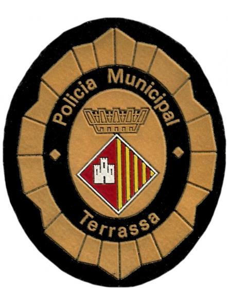 Policía municipal Terrassa parche insignia emblema distintivo de pecho