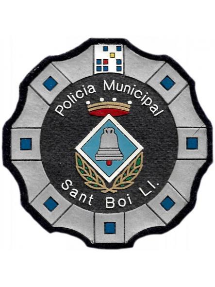 Policía Municipal de Sant Boi de Llobregat parche insignia emblema distintivo de pecho modelo 92