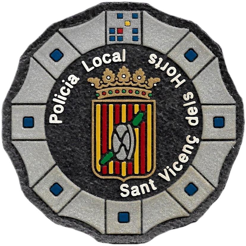 Policía Local de Sant Vicenç dels Horts parche insignia emblema distintivo de pecho modelo 92
