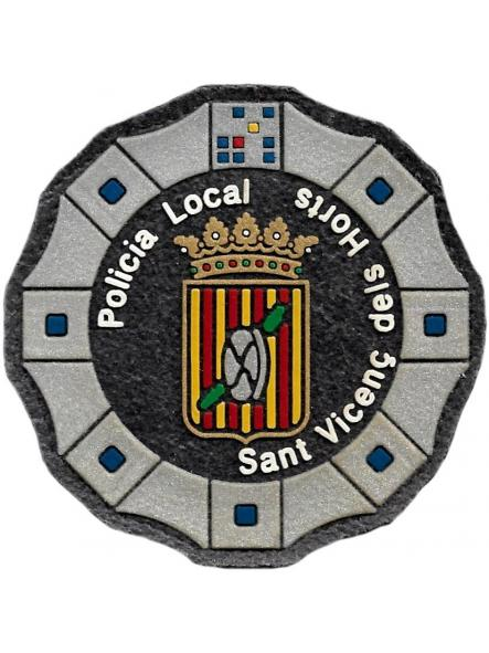Policía Local de Sant Vicenç dels Horts parche insignia emblema distintivo de pecho modelo 92  [0]