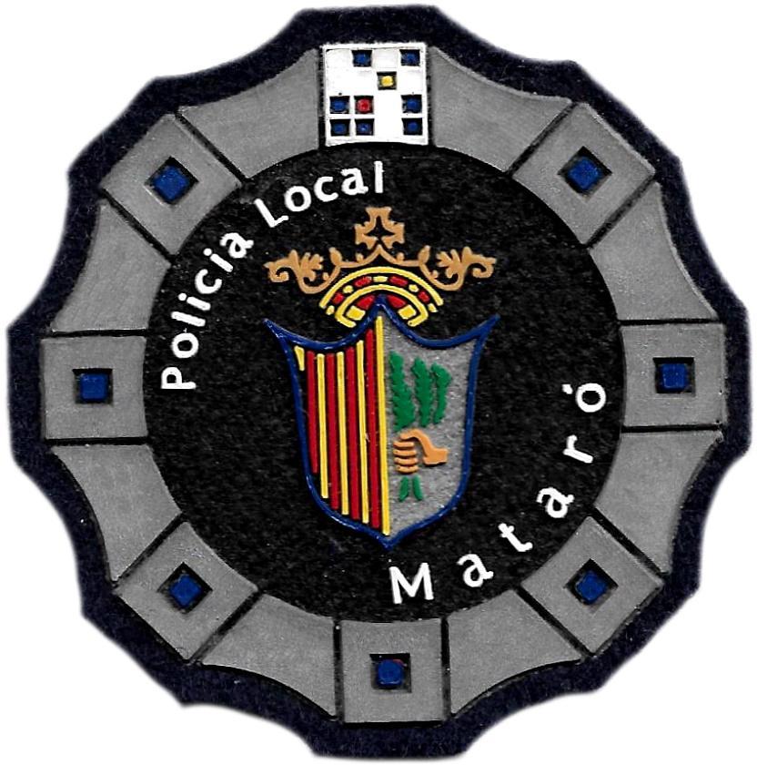 Policía Local de Mataró parche insignia emblema distintivo de pecho modelo 92