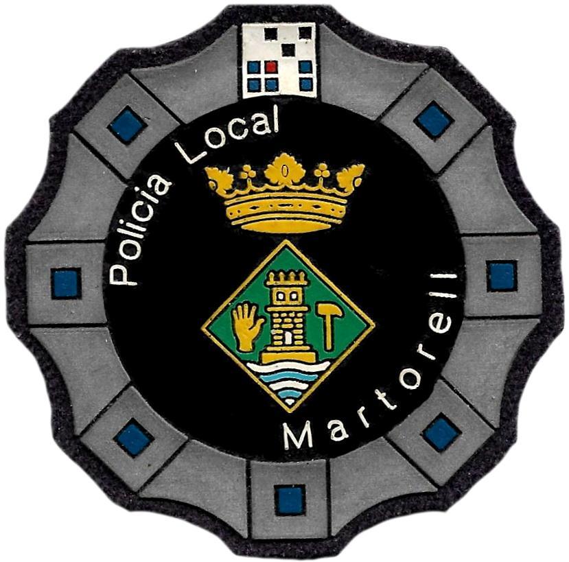 Policía Local de Martorell parche insignia emblema distintivo de pecho modelo 92