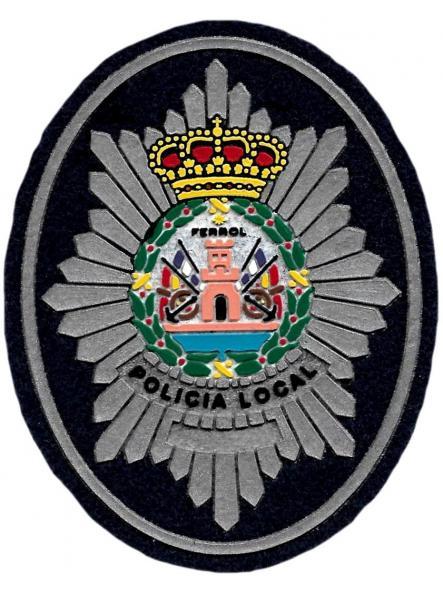 Policía local Ferrol parche insignia emblema distintivo de pecho