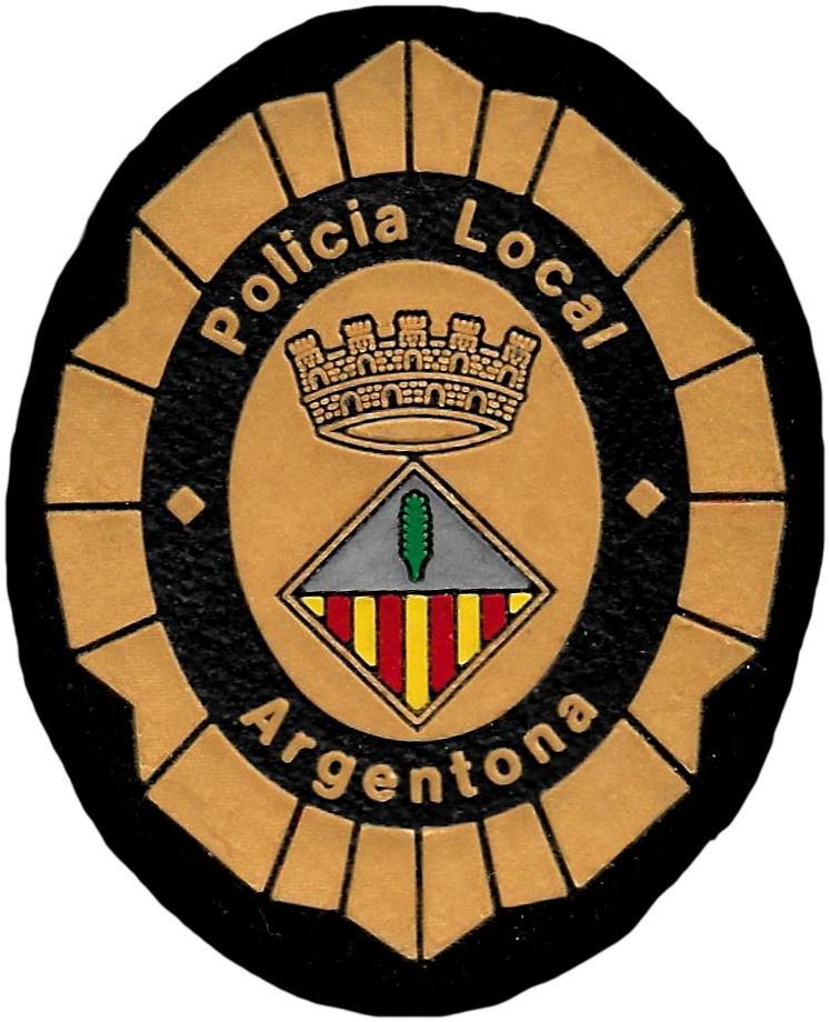 Policía local Argentona parche insignia emblema distintivo de pecho