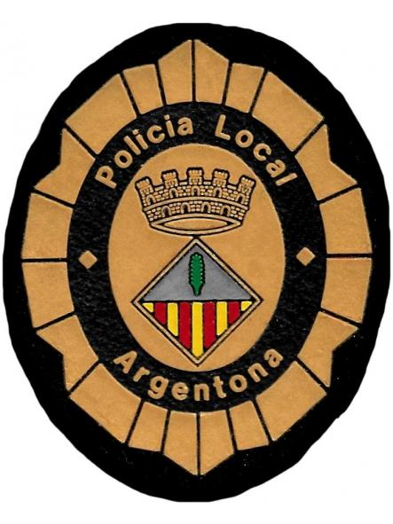 Policía local Argentona parche insignia emblema distintivo de pecho [0]