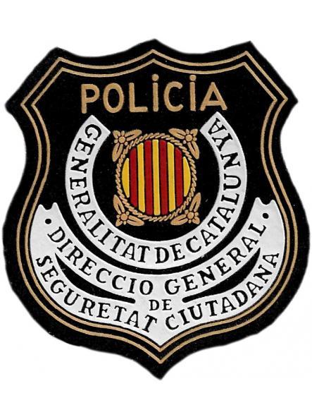 Policía de Cataluña Mossos d´esquadra dirección general de seguridad ciudadana parche insignia emblema distintivo de pecho