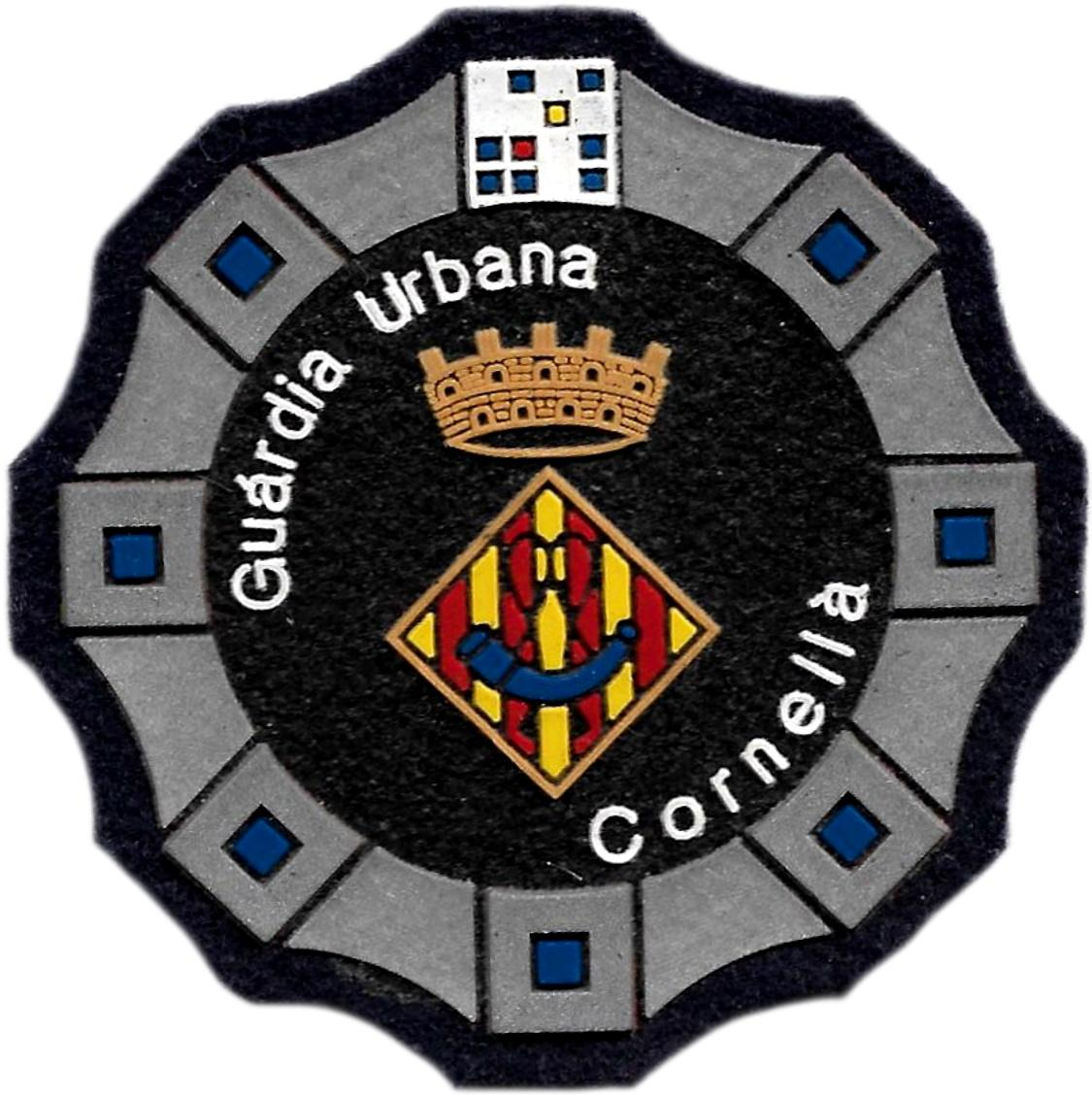 Policía Guardia Urbana Cornellá parche insignia emblema distintivo de pecho modelo 92