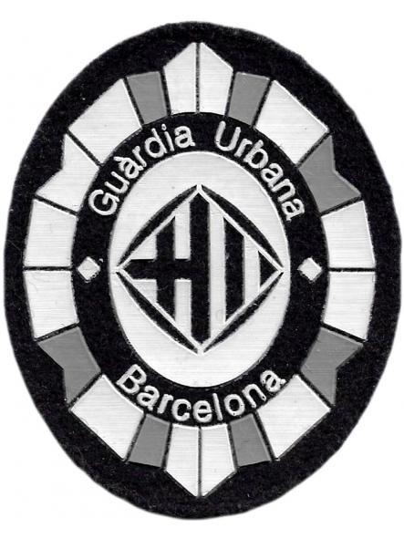 Policía Guardia Urbana de Barcelona parche insignia emblema distintivo de pecho