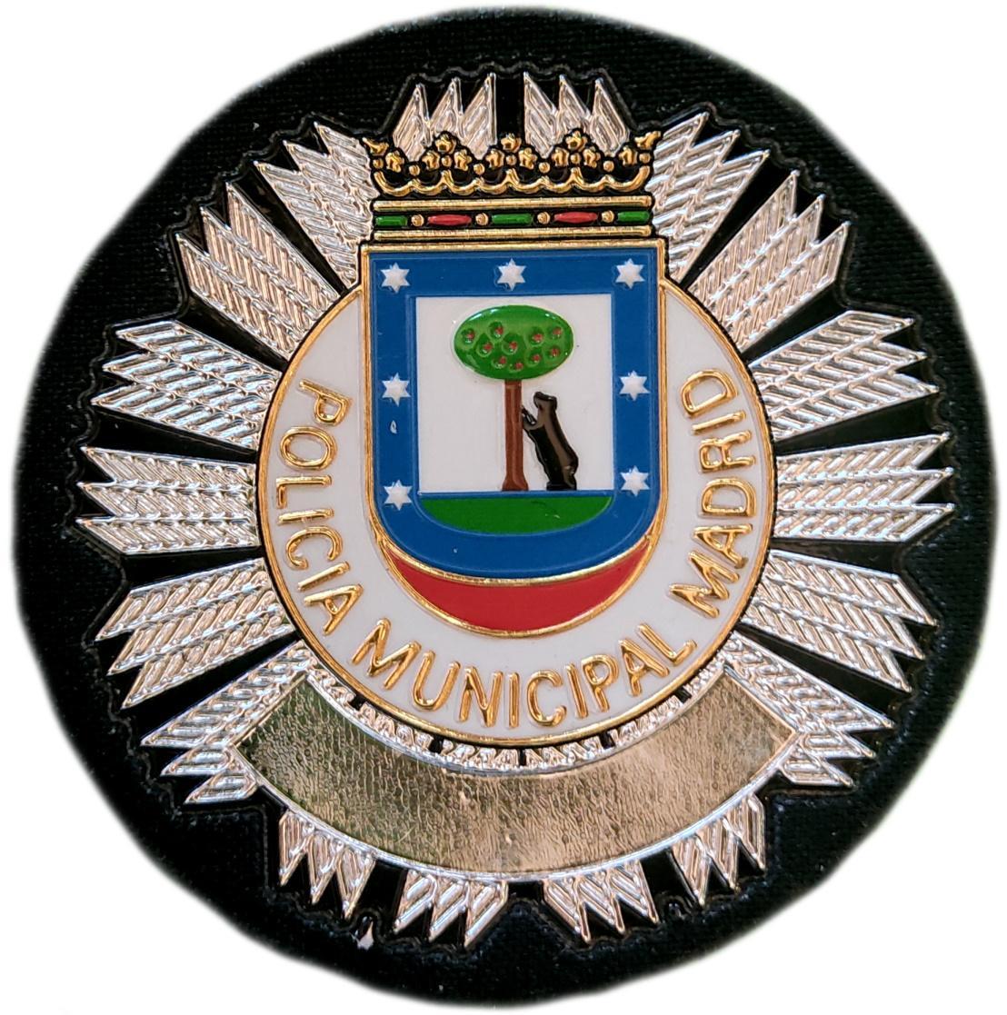 Policía Municipal Madrid parche insignia emblema distintivo de pecho