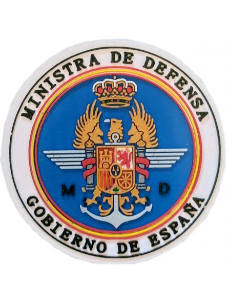 Ministra de Defensa Gobierno de España tierra armada aire parche insignia emblema distintivo