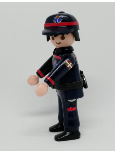 PLAYMOBIL PERSONALIZADO ERTZAINTZA POLICÍA DEL PAÍS VASCO EUSKADI CON UNIFORME DE SEGURIDAD CIUDADANA HOMBRE [2]
