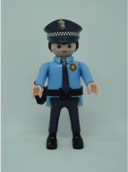Playmobil personalizado policía guardia urbana de Barcelona uniforme modelo años 90 hombre