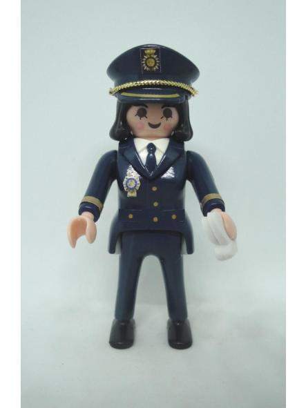 Playmobil personalizado Policía nacional CNP uniforme de gala mujer