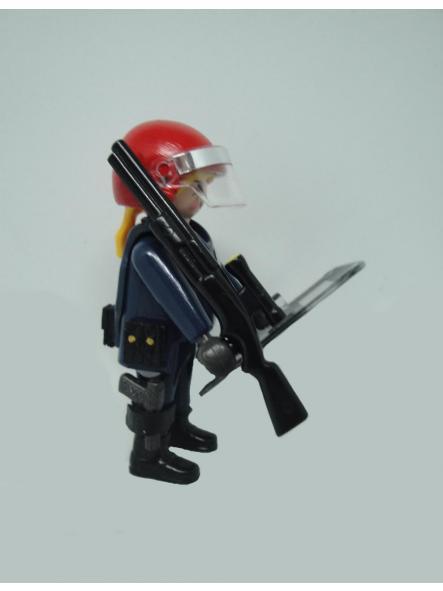 Playmobil personalizado uniforme Brigada Móvil antidisturbios Ertzaintza Policía país vasco Euskadi mujer [3]