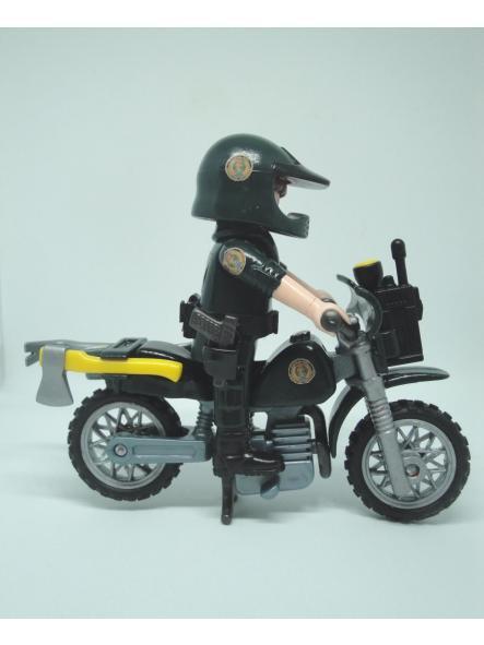 Playmobil personalizado Guardia civil SEPRONA servicio de protección de la naturaleza en moto elige hombre o mujer