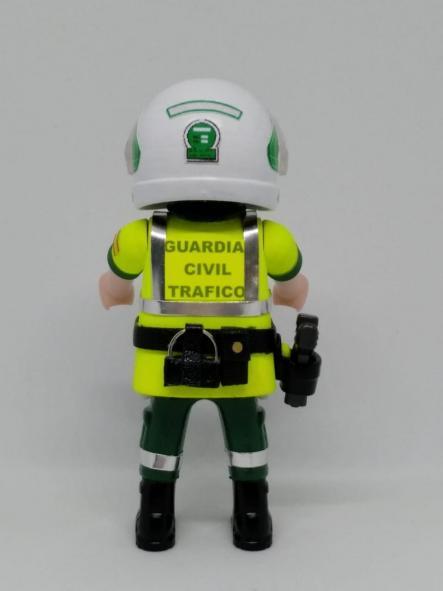 Playmobil personalizado con uniforme de la guardia civil de tráfico con casco hombre [1]
