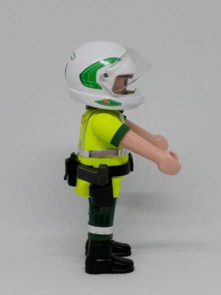 Playmobil personalizado con uniforme de la guardia civil de tráfico con casco hombre [2]