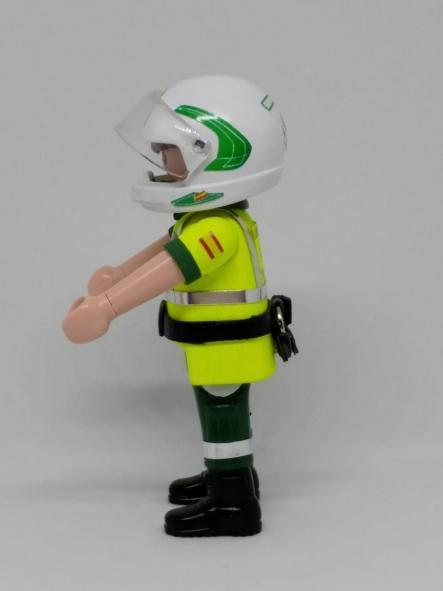 Playmobil personalizado con uniforme de la guardia civil de tráfico con casco hombre [3]