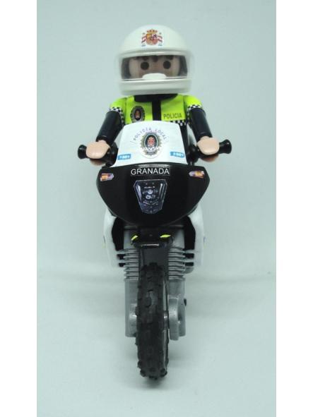 PLAYMOBIL PERSONALIZADO POLICÍA LOCAL GRANADA PATRULLA CON MOTO ELIGE HOMBRE O MUJER [2]