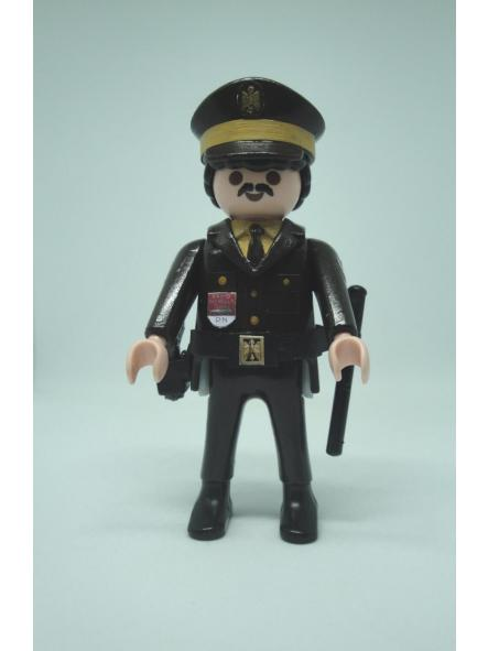 Playmobil personalizado Policía Nacional uniforme marrón maderos hombre