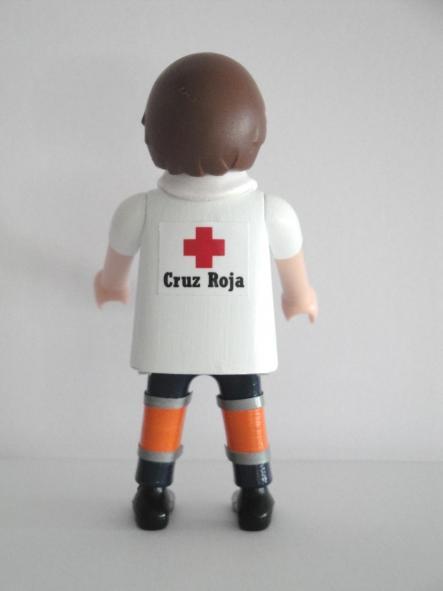 Playmobil personalizado con el uniforme de conductor de ambulancia de la cruz roja hombre [1]