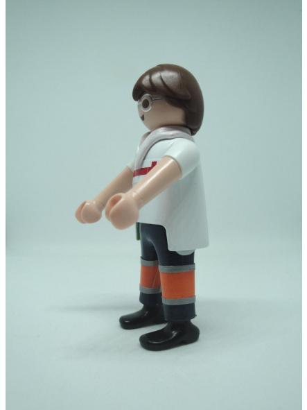 Playmobil personalizado con el uniforme de conductor de ambulancia de la cruz roja hombre [2]