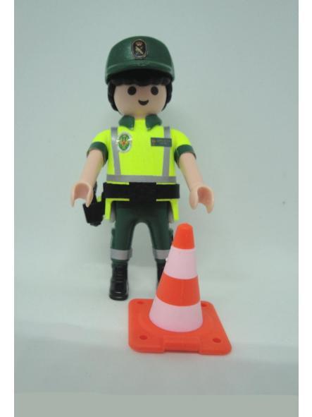 Playmobil personalizado con uniforme de la guardia civil de tráfico con cono hombre