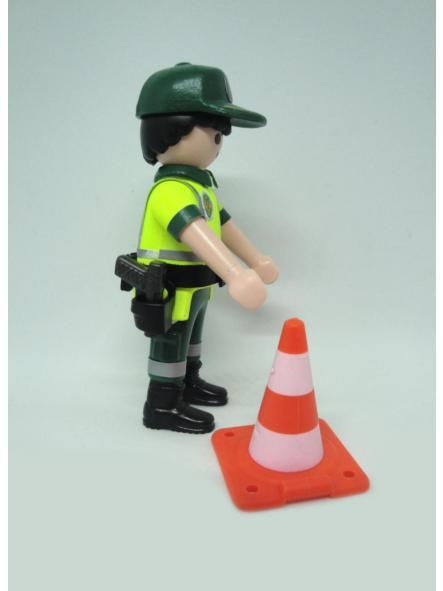 Playmobil personalizado con uniforme de la guardia civil de tráfico con cono hombre [3]