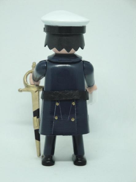 Playmobil personalizado con uniforme de gran gala de la Armada rango de alférez de marina hombre [1]