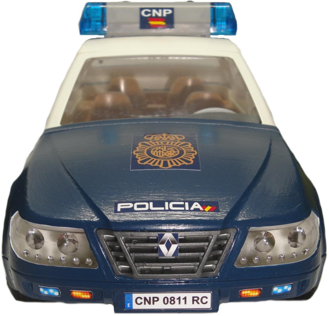 Playmobil Coche Zeta personalizado con los distintivos de la Policía nacional CNP de España