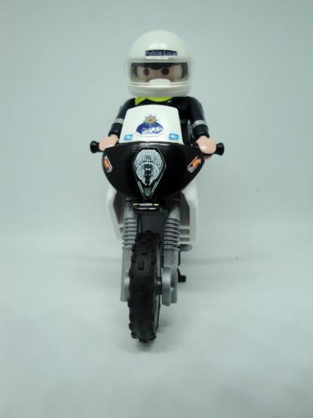 Playmobil personalizado Policía Local Vitoria patrulla con moto elige hombre o mujer