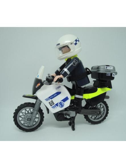 Playmobil personalizado Policía Local Vitoria patrulla con moto elige hombre o mujer [2]