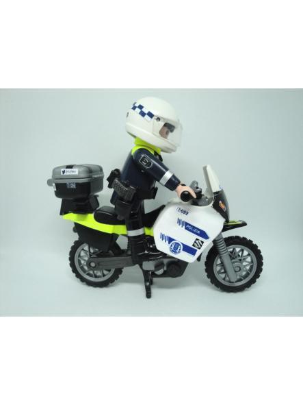 Playmobil personalizado Policía Local Vitoria patrulla con moto elige hombre o mujer [3]