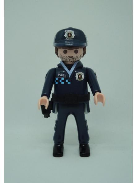 Playmobil personalizado uniforme policía local castilla la mancha valdepeñas hombre