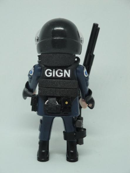 Playmobil personalizado con uniforme del GIGN de la Gendarmerie francesa swat team hombre [1]