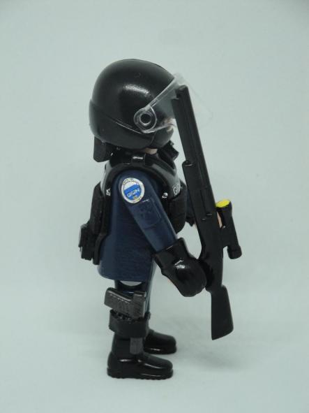 Playmobil personalizado con uniforme del GIGN de la Gendarmerie francesa swat team hombre [3]
