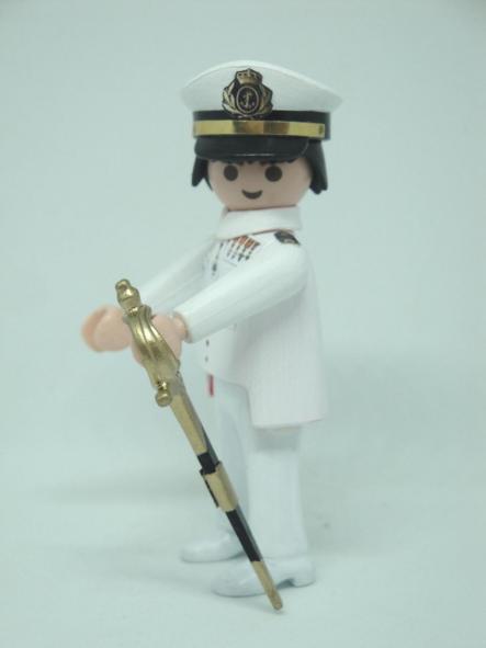 Playmobil personalizado con uniforme de la Armada alférez de marina hombre [1]