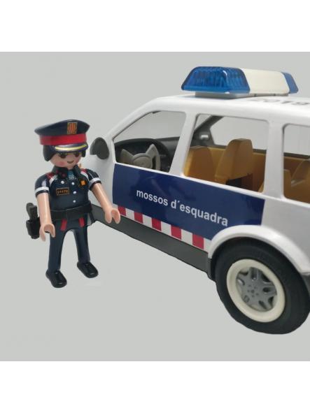 COCHE PLAYMOBIL PERSONALIZADO CON LOS DISTINTIVOS DE LOS MOSSOS D´ESQUADRA POLICÍA DE CATALUÑA [3]