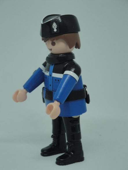 Playmobil personalizado con uniforme de Gendarmerie francesa hombre [3]
