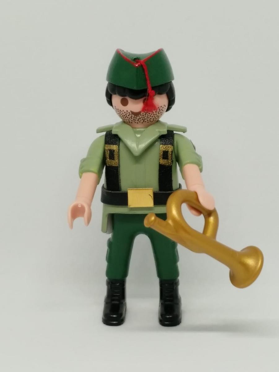 Playmobil personalizado con uniforme de legionario con trompeta hombre