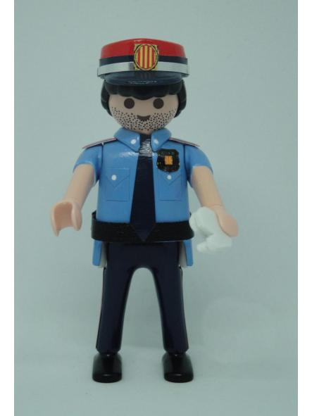 PLAYMOBIL PERSONALIZADO POLICÍA DE CATALUÑA MOSSOS D´ESQUADRA ACADEMIA HOMBRE
