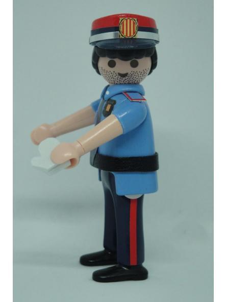 PLAYMOBIL PERSONALIZADO POLICÍA DE CATALUÑA MOSSOS D´ESQUADRA ACADEMIA HOMBRE [1]