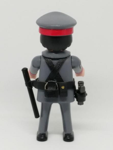PLAYMOBIL PERSONALIZADO CON UNIFORME DE LA POLICÍA ARMADA LOS GRISES HOMBRE [1]