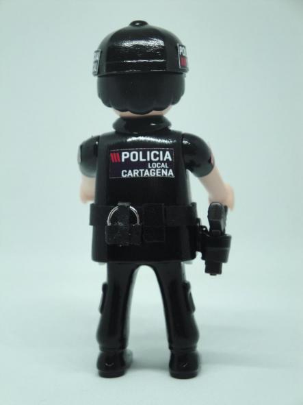 PLAYMOBIL PERSONALIZADO POLICÍA LOCAL DE CARTAGENA HOMBRE [1]
