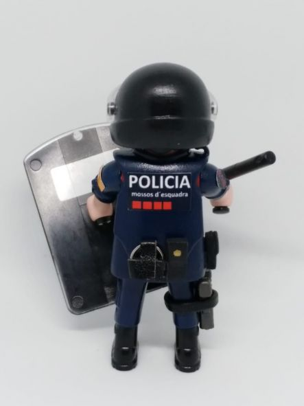 PLAYMOBIL PERSONALIZADO POLICÍA MOSSOS D´ESQUADRA CON UNIFORME DE LA BRIGADA MOBIL HOMBRE [1]